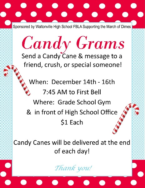 WCUSD1 - Candy Gram Sales Dec. 14-16 Sponsored by the WHS ...